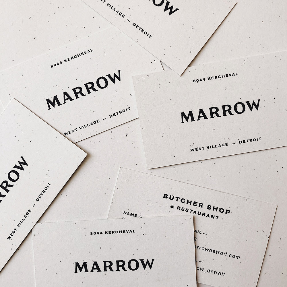 Marrow  Brand Identity, Custom Typography
