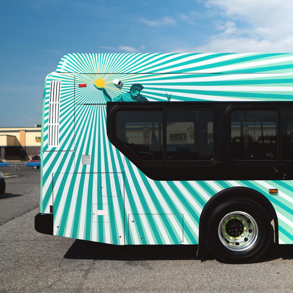 Detroit Department of Transportation (DDOT)  Bus livery design