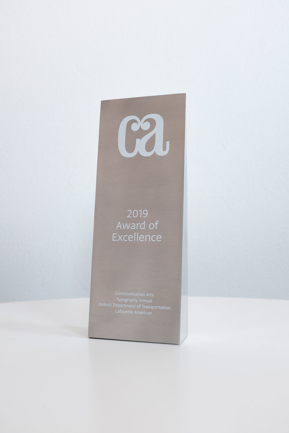 Communication Arts Award of Excellence for DDOT