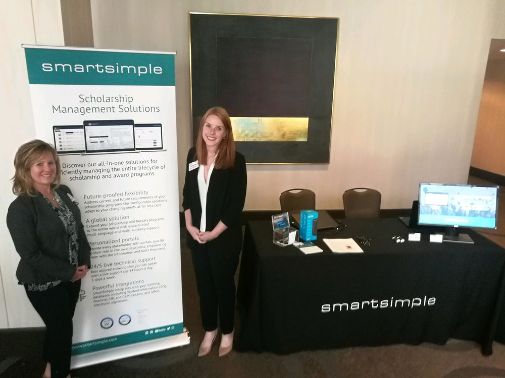 SmartSimple's Director of Research Solutions, Teresa Clarke, and Research Analyst, Rachael Sloat