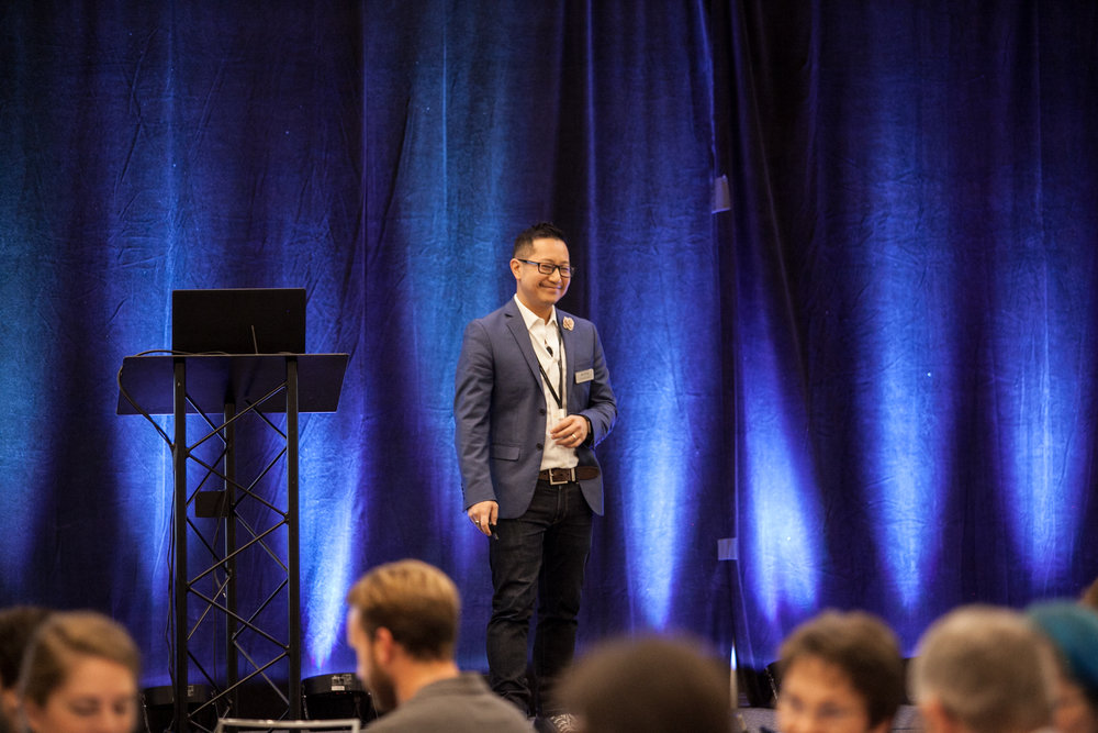 SmartSimple's Director of Marketing, Alex Wong, co-presenting at Elevate
