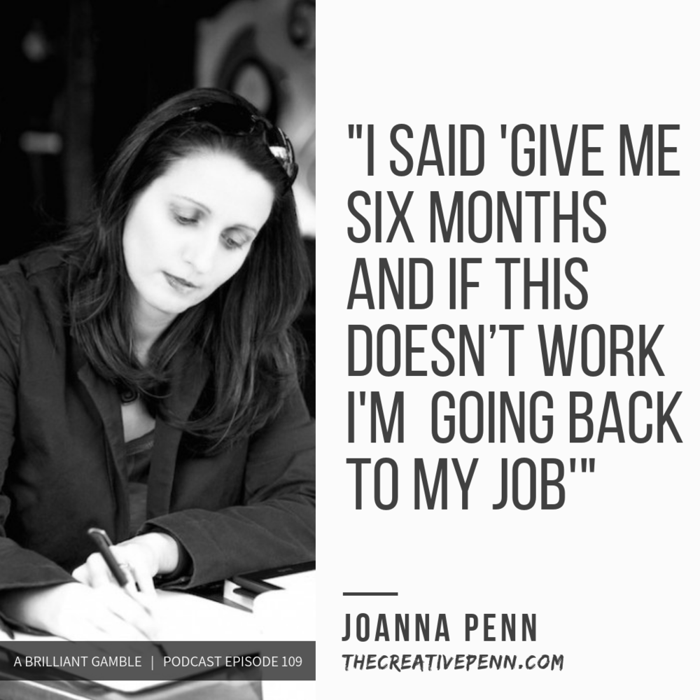 EP 109:   Writing for a Living with Joanna Penn, Best-Selling Author, Podcaster and Teacher