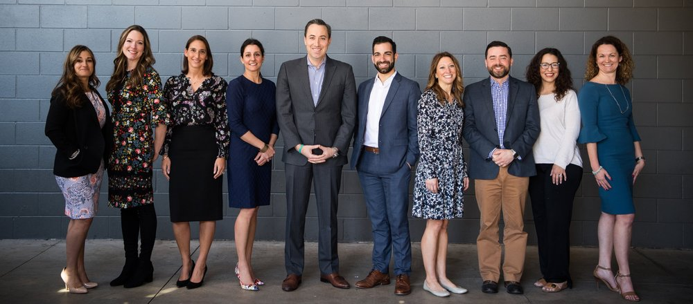 PURE's New England Regional Team from left: Lisa LeBlanc, Lindsay Holden, Alison Murphy, Corrin Grieco, Mark Galante, Dan Nieves, Kym Lewis, Mike Valluzzo, Sophia Zalios and Ashley Swinsburg.