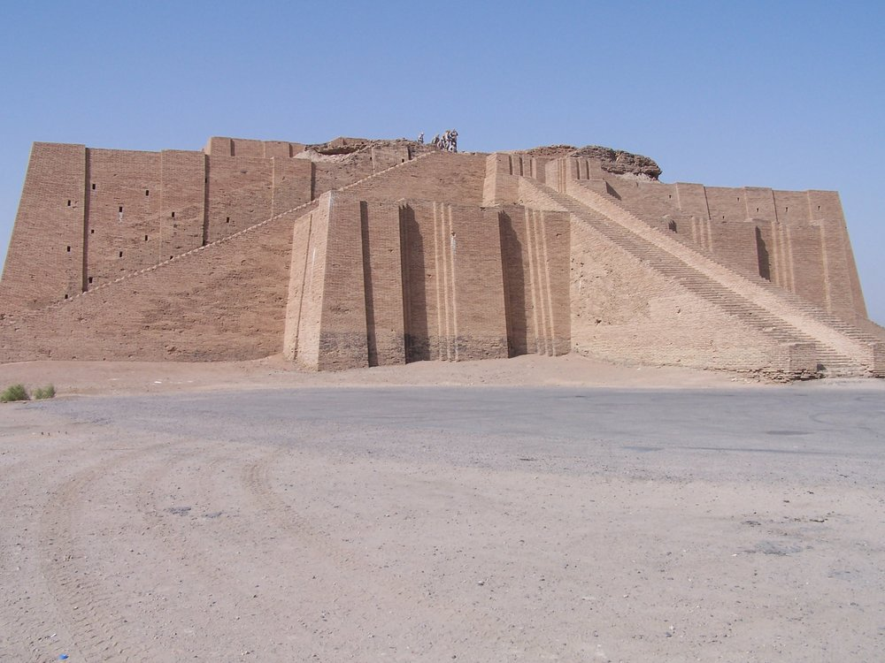 - An example of a ziggurat mentioned in this episode. This is a reconstruction of the Ziggurat of Er.