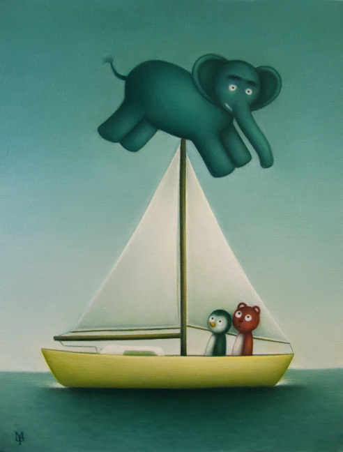 Elephant On A Sailboat