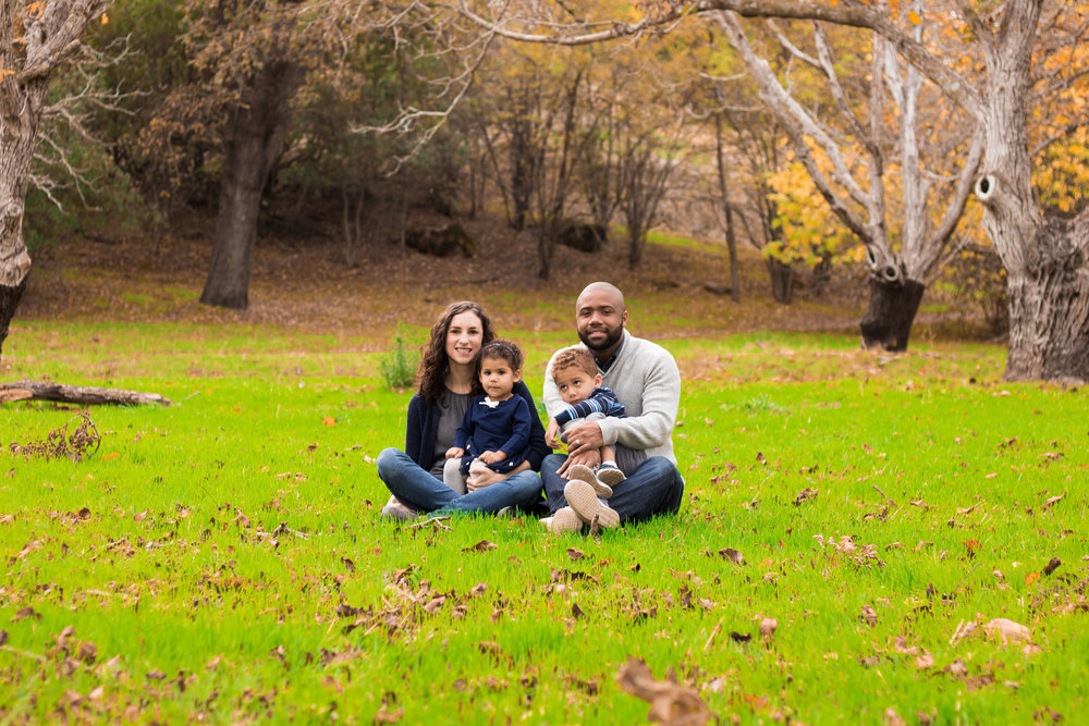 Family portrait at Pena Adobe in Vacaville, CA