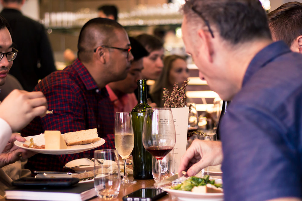 Dinner event at Aracely Cafe in San Francisco