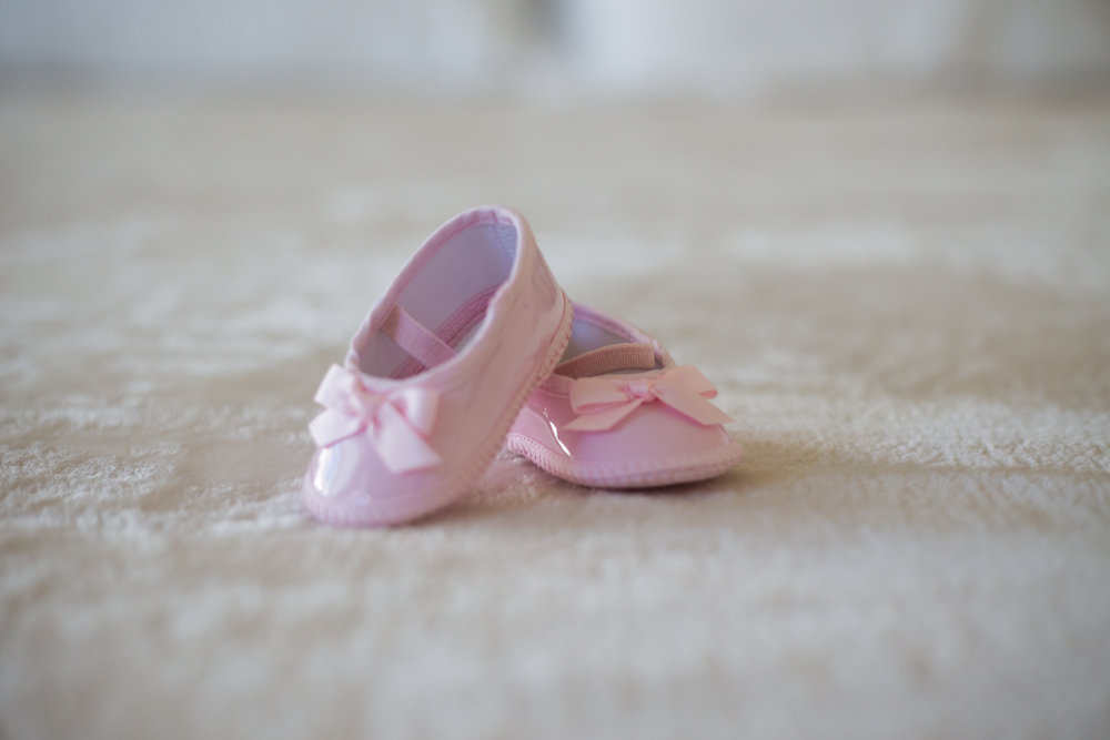 Baby Taleetha's newborn shoes from our Newborn Photoshoot in the Bay Area