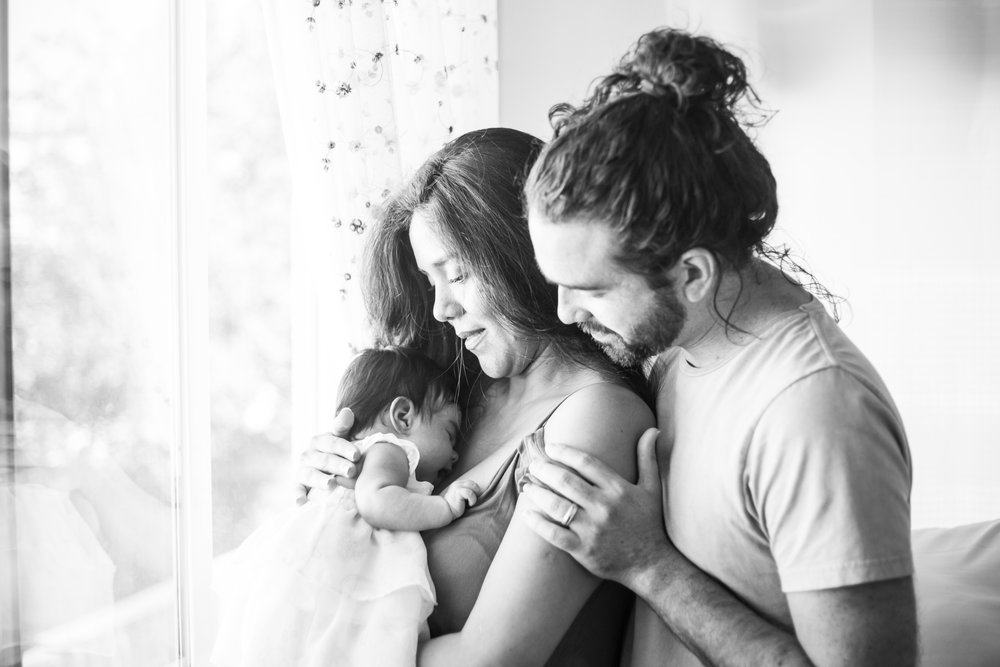 Family portrait during this Maternity/Newborn Photoshoot in the San Francisco Bay Area