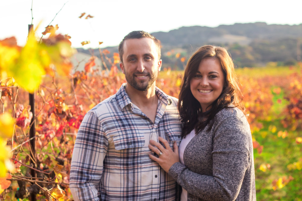 Family portrait at GV Cellars Winery in Napa