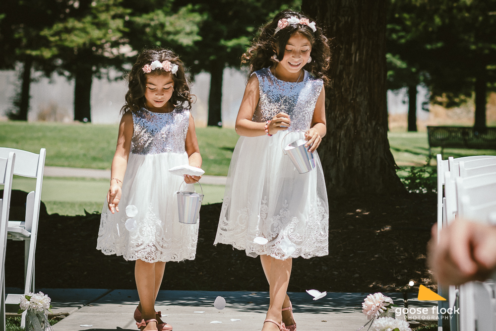 Two awesome flower girls from a wedding at the Fairview Events Center at the Napa Golf Course in Napa, CA