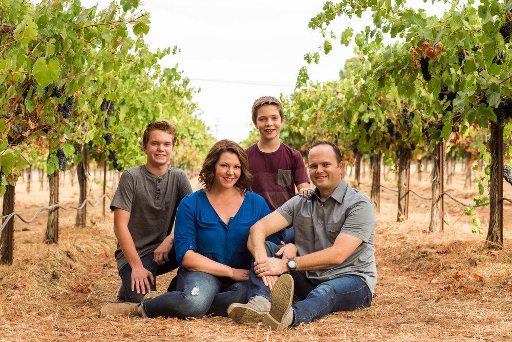 Napa Valley Family Portraits at GV Cellars