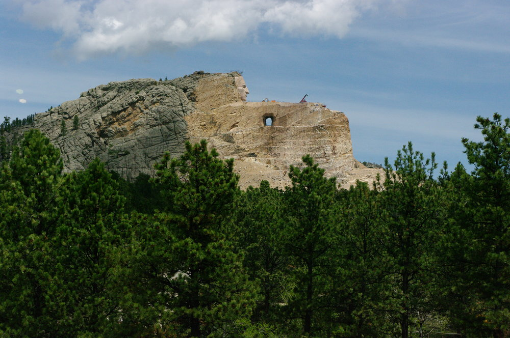 Crazy Horse carving