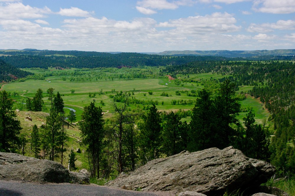 View of land around Devil's Tower