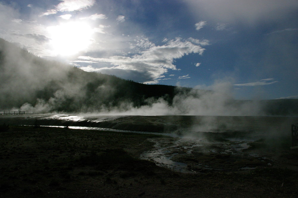 Sun on the hot springs