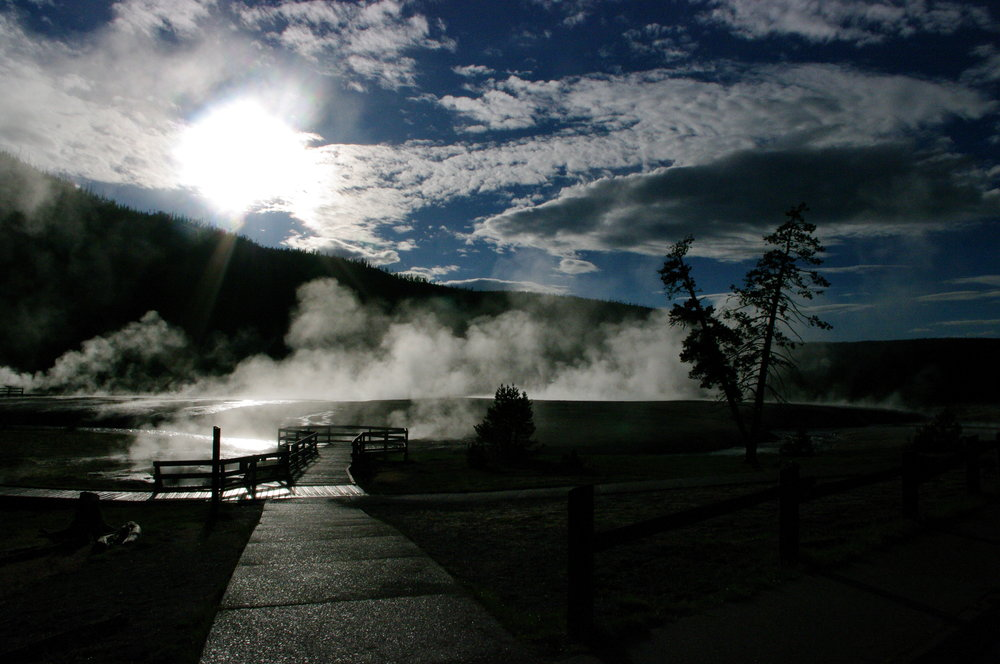 Sun and the hot springs