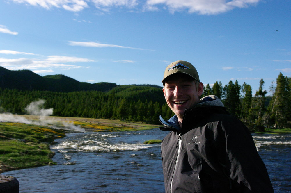 Ike at the Firehole River