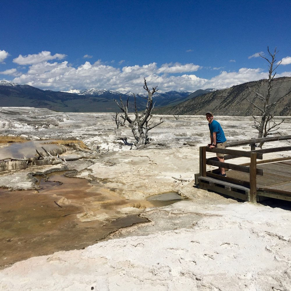 Ike at Mammoth Springs