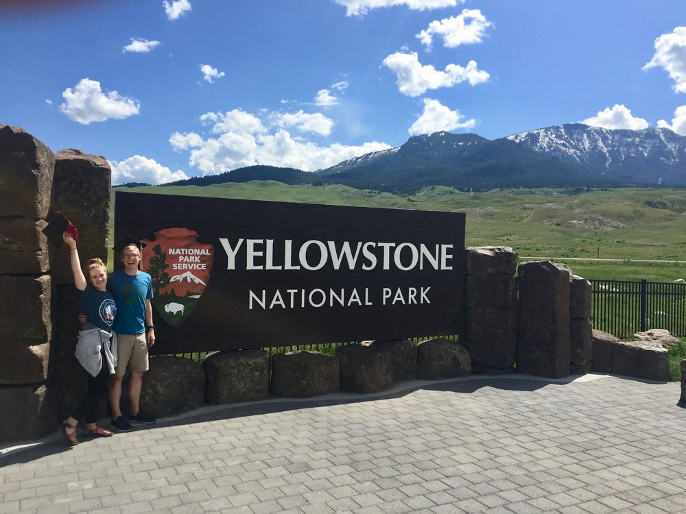 Graduation Picture, we made it through Yellowstone!