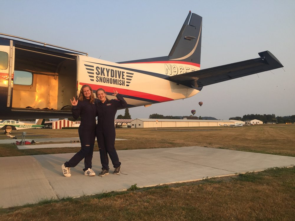 Taken after Esther and I went skydiving at  Skydive Snohomish