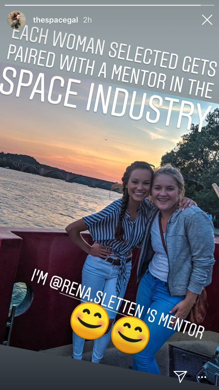 Instagram story from @thespacegal from the  Brooke Owens Fellowship  Summit in Washington, DC