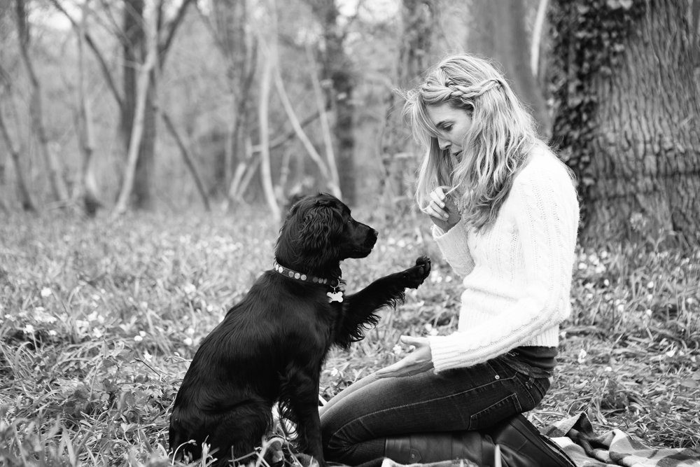 Rachel Hughes with her spaniel Willow.jpg