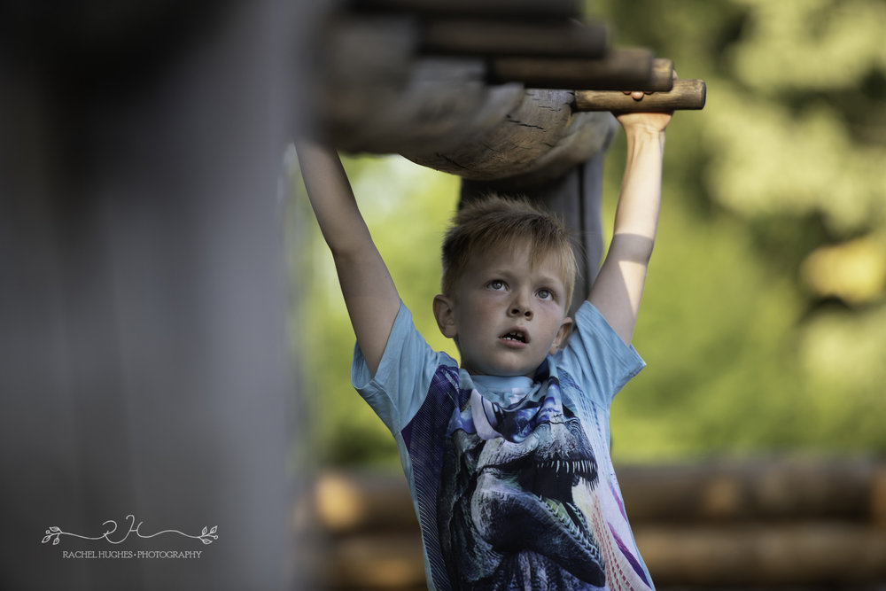 Jersey photographer - boy on monkey bars