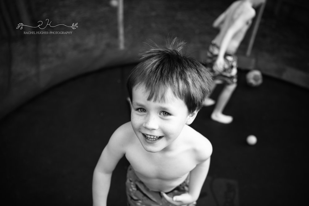 Jersey photographer - boys on trampoline