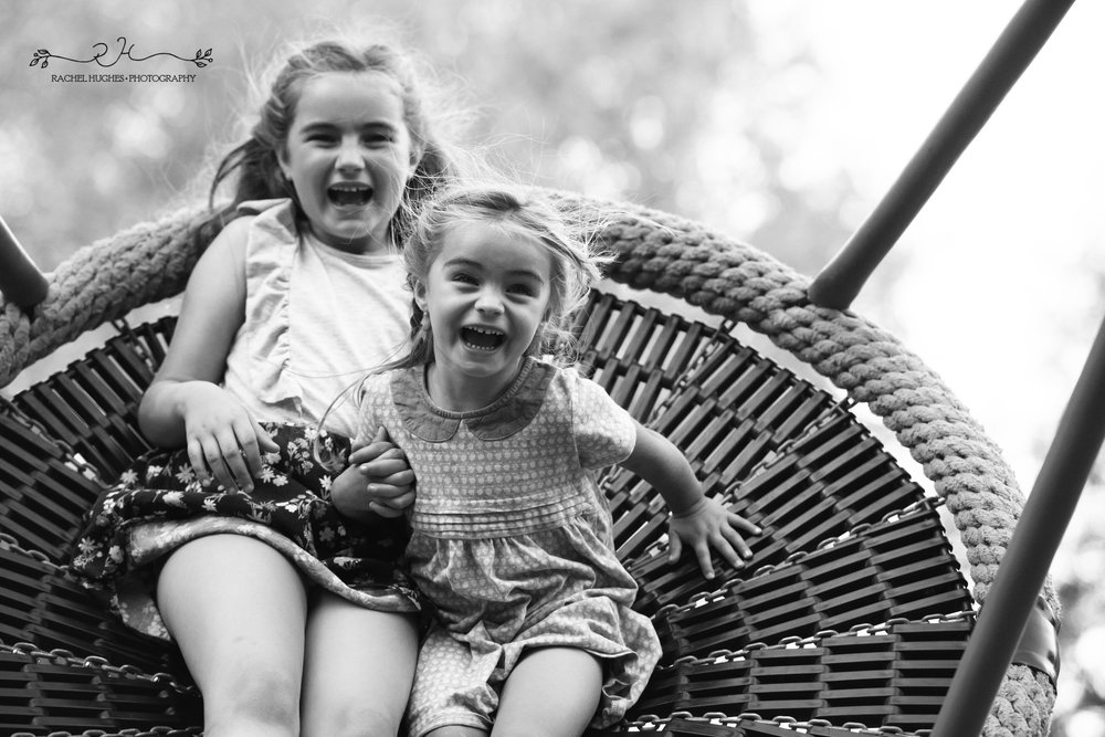 Jersey photographer - sisters on swing