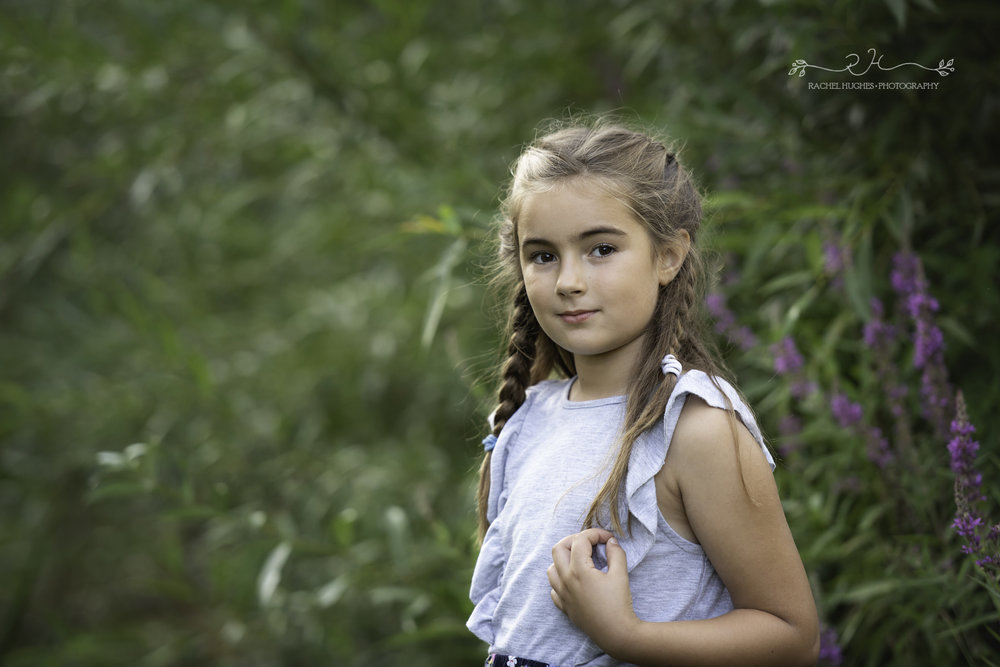 Jersey photographer - portrait of girl in park