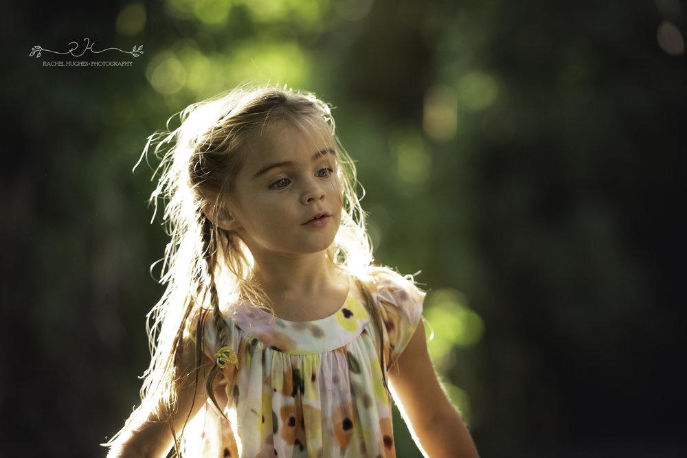 Jersey photographer - girl in dappled sunlight