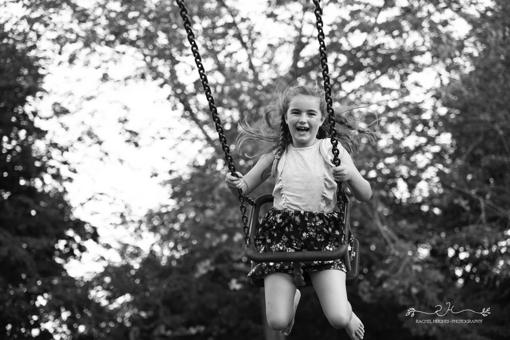 Jersey photographer - girl on swing