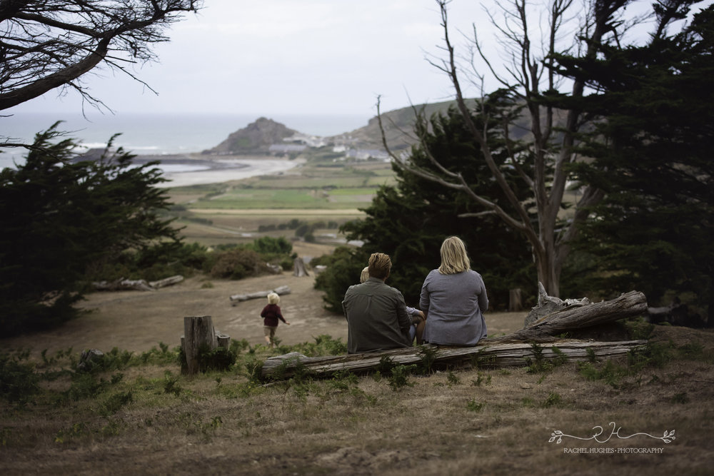 Jersey photographer - family taking in view at Grantez