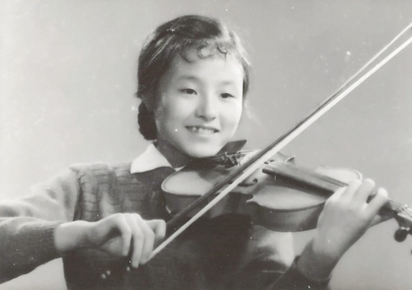 Jiebing Playing Violin