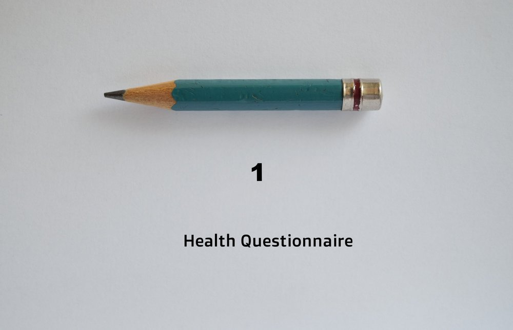 In-depth Health Assessment - Once you've booked your first appointment, you'll receive an in-depth health questionnaire by email that you'll fill in and send back at least 48 hours prior to your consultation time.