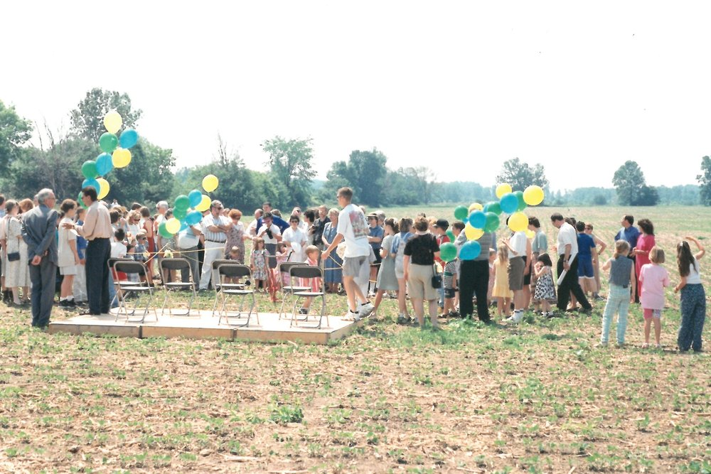 1998 - Ground breaking at 599 Bayly Street location