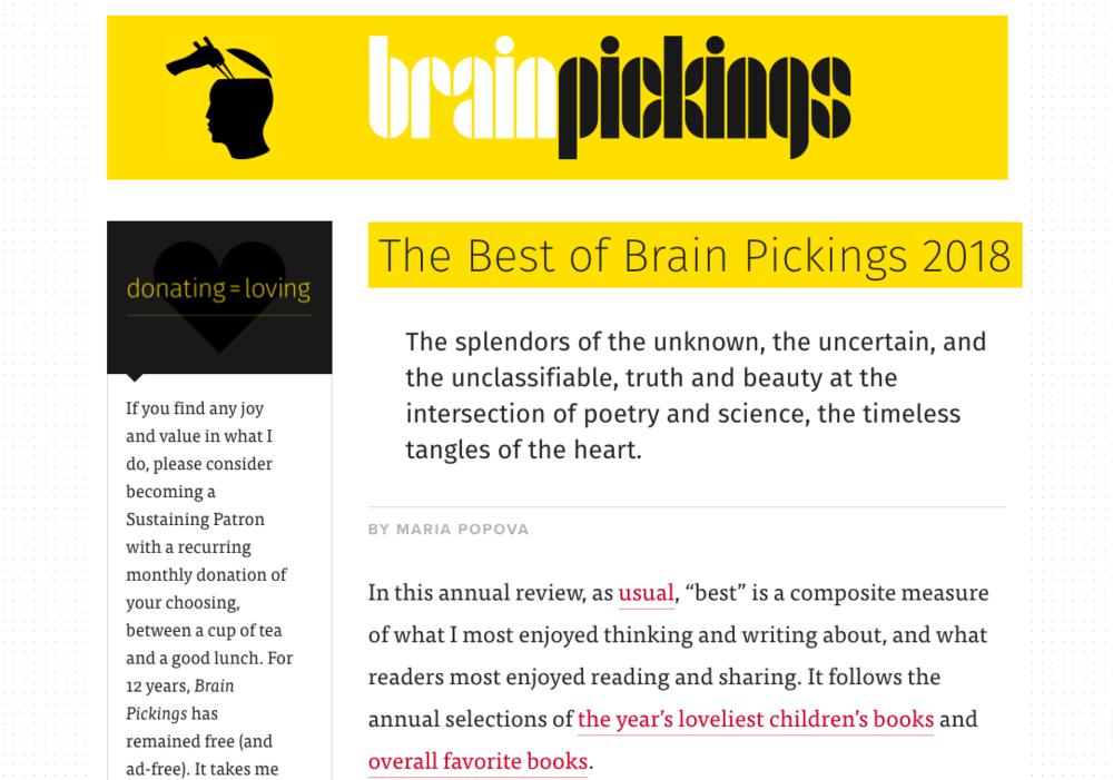 Brainpickings.org  by Maria Popova