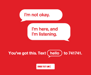Crisis Text Line - Join Crisis Text Line in its mission of providing free, 24/7, confidential support to people in crisis by becoming a volunteer, donating, or just sharing their mission on your social media.