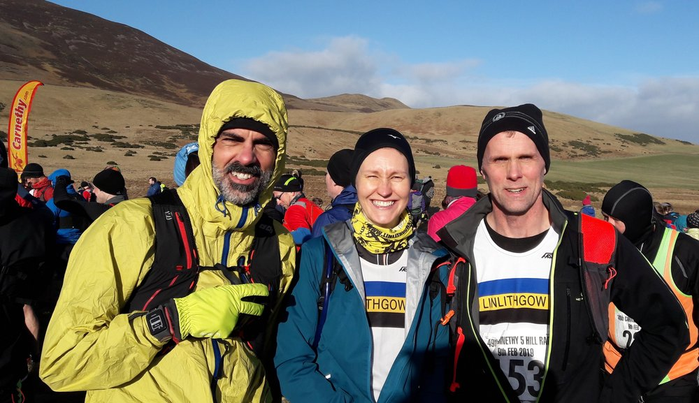David, Laura and Paul at Carnethy 5