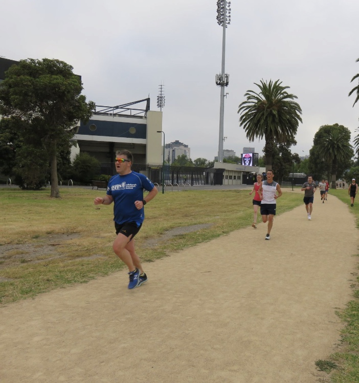 David at Albert Park parkrun