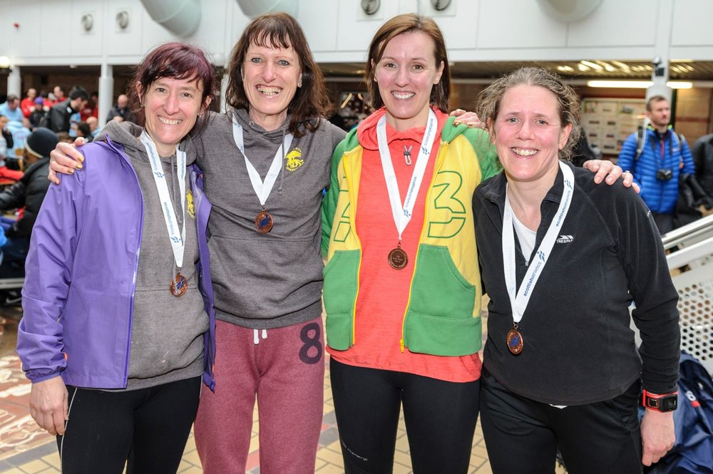 Masters Women's team at Scottish Road Relay Championship