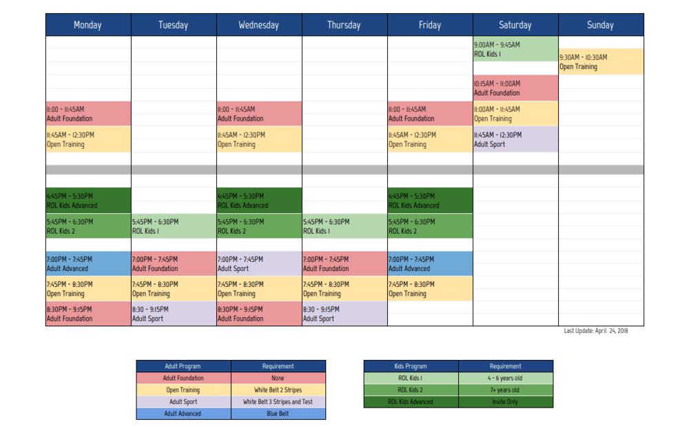 RŌL Schedule.png
