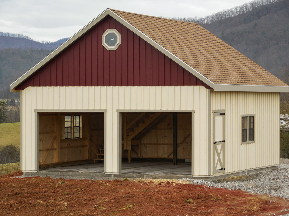 24' x 24' Double Wide Two Story Garage