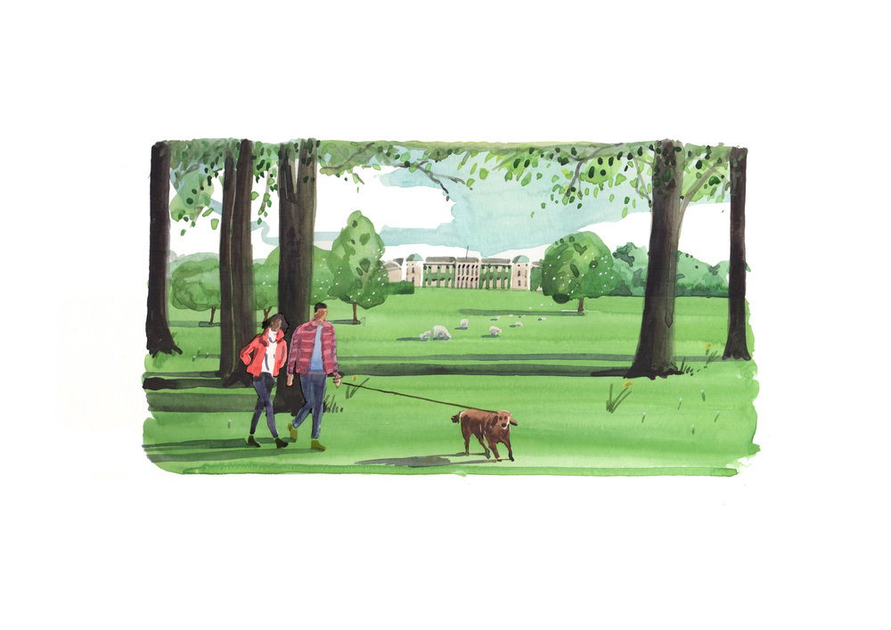 LisWatkinsGoodwoodSpringWatercoloursWalkingDogColourArtwork.jpg