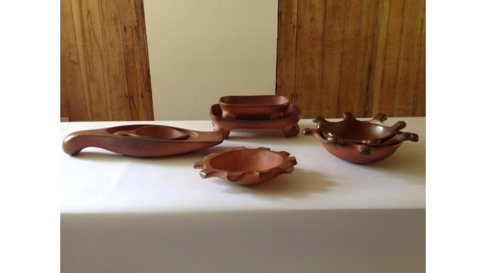 Tabletop forms in the studio