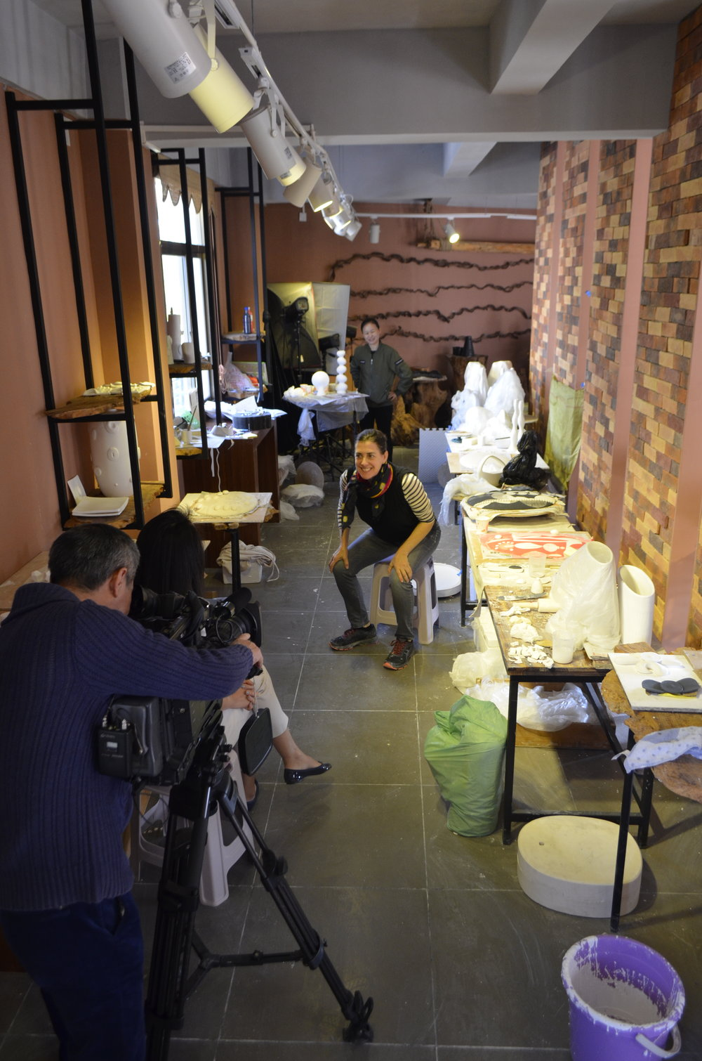 - Blanc de Chine International Artist Residency 2018http://www.blancdechineicaa.com/Fall 2018Fujian Province, ChinaFilm crew making the Blanc de Chine trailer in my beautiful studio for two months in Dehua, China*see blog for more images