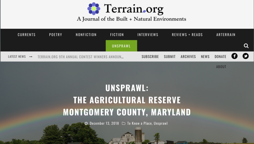 Terrain.org Explores the soul of place - in the Agricultural Reserveread more