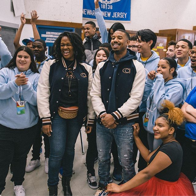 What would you do if @michaelbjordan showed up at YOUR school? Our young people and their classmates at Barringer High School found out when the inspiring actor, producer, and #Newark, NJ native surprised them Friday morning! • The Newark native co-hosted the student-run Passion Show, mentored Josephine's (@josaqueen) Dream Team, signed a new mural, and attended a pep rally with the WHOLE school. We're so excited MBJ got to see the magic of our young people in real life—and are grateful to have such a dedicated mentor like him for our young people 💙 • Thank you to our partner @coach for making today happen! #DreamItReal #CoachNY