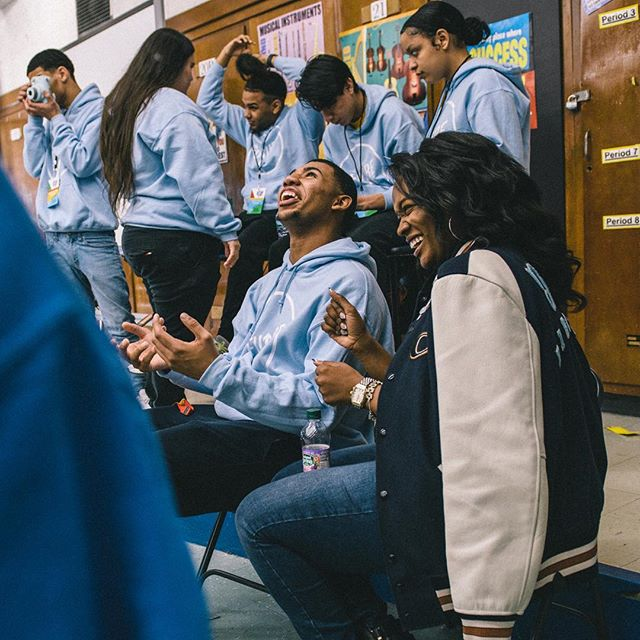 "#Newark Dream Director Josephine (@josaqueen) reflects on just what @michaelbjordan's surprise visit meant to her and her young people 💙 • Josephine reflects: ""When you work with young people, you really want them to have the best. And today, the Dream Team got the best. I see them every day and I know that they deserve that, but to have that moment where they really get what they deserve? That's the dream when you work with young people. To see them have the best. And that was today."" • ""So many of their dreams came true in one day. They got their pep rally. We planned a pep rally at the beginning of the school year and it was cancelled. We planned a passion show and it snowed. We've tried to do murals and have gotten in trouble for it. But all of those things happened in the same day. AND they met a celebrity. AND they got to hang out with him. It wasn't just a few pictures. It was a real, authentic moment. Today was absolutely incredible."" • You are an incredible force in our students' lives @josaqueen. Thank you! #DreamItReal #CoachNY"