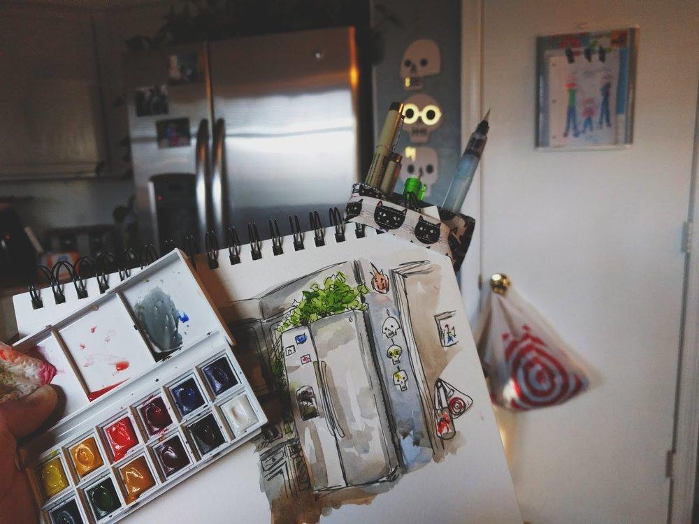 Kitchen Fridge  - at home